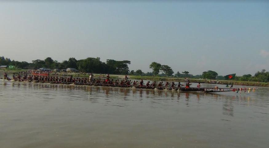 বিজিবি ও বিএসএফ প্রীতি নৌকাবাইচ প্রতিযোগীতা